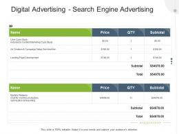 Digital Advertising Search Engine Advertising Advertising Design And Production Proposal Template Ppt Tips