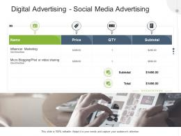 Digital Advertising Social Media Advertising Advertising Design And Production Proposal Template Ppt Grid