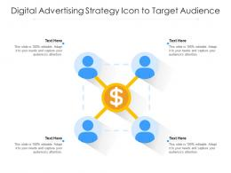Digital Advertising Strategy Icon To Target Audience