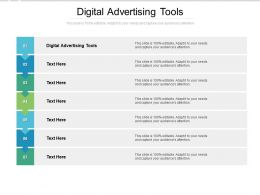Digital Advertising Tools Ppt Powerpoint Presentation Gallery Grid Cpb