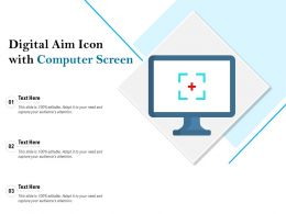 Digital Aim Icon With Computer Screen