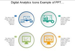 Digital Analytics Icons Example Of Ppt Presentation