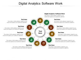 Digital Analytics Software Work Ppt Powerpoint Presentation Inspiration Influencers Cpb