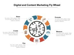 Digital And Content Marketing Fly Wheel