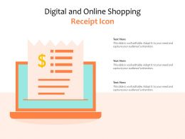 Digital And Online Shopping Receipt Icon