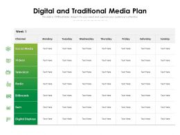 Digital And Traditional Media Plan