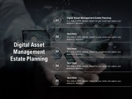 Digital Asset Management Estate Planning Ppt Powerpoint Presentation Infographics Model Cpb