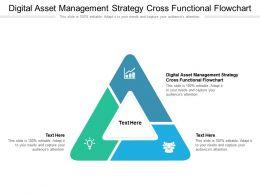Digital Asset Management Strategy Cross Functional Flowchart Ppt Powerpoint Presentation Icon Topics Cpb
