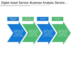 Digital Asset Service Business Analysis Services Current Software Environment
