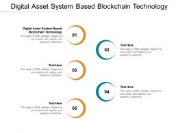 Digital Asset System Based Blockchain Technology Ppt Powerpoint Presentation Model Infographic Cpb