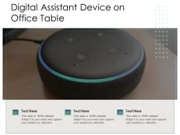 Digital Assistant Device On Office Table