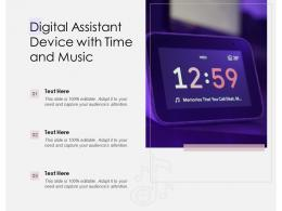 Digital Assistant Device With Time And Music
