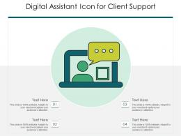 Digital Assistant Icon For Client Support