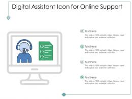 Digital Assistant Icon For Online Support
