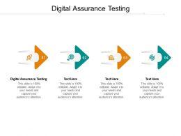 Digital Assurance Testing Ppt Powerpoint Presentation Ideas Gallery Cpb