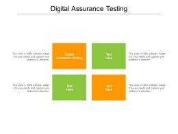 Digital Assurance Testing Ppt Powerpoint Presentation Inspiration Design Templates Cpb