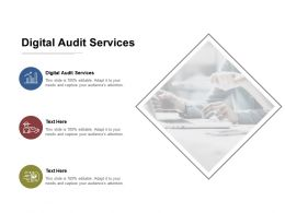 Digital Audit Services Ppt Powerpoint Presentation Gallery Inspiration Cpb