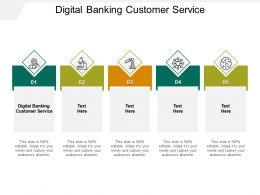 Digital Banking Customer Service Ppt Powerpoint Presentation Inspiration Slide Download Cpb