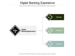Digital Banking Experience Ppt Powerpoint Presentation Microsoft Cpb