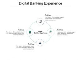 Digital Banking Experience Ppt Powerpoint Presentation Pictures Example Topics Cpb