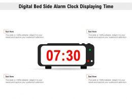 Digital Bed Side Alarm Clock Displaying Time