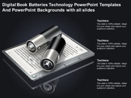 Digital Book Batteries Technology Powerpoint Templates And Backgrounds With All Slides