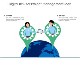 Digital BPO For Project Management Icon