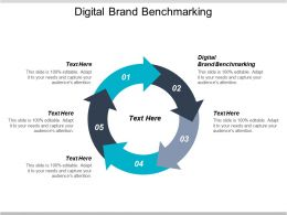 Digital Brand Benchmarking Ppt Powerpoint Presentation Pictures Gridlines Cpb