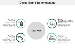 Digital Brand Benchmarking Ppt Powerpoint Presentation Portfolio Mockup Cpb