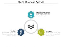 Digital Business Agenda Ppt Powerpoint Presentation Show Influencers Cpb