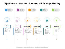 Digital Business Five Years Roadmap With Strategic Planning