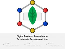 Digital Business Innovation For Sustainable Development Icon