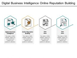 Digital Business Intelligence Online Reputation Building Customer Retention Cpb