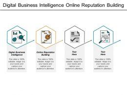 Digital Business Intelligence Online Reputation Building Customer Retention Cpb