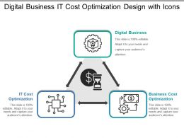Digital Business It Cost Optimization Design With Icons