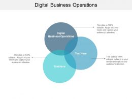 Digital Business Operations Ppt Powerpoint Presentation Slides Examples Cpb