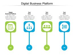 Digital Business Platform Ppt Powerpoint Presentation Professional Elements Cpb