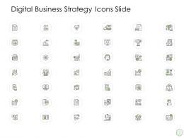 Digital Business Strategy Icons Slide Ppt Outline Sample