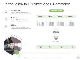 Digital Business Strategy Introduction To E Business And E Commerce Ppt Demonstration