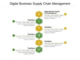 Digital Business Supply Chain Management Ppt Powerpoint Presentation Layouts Cpb
