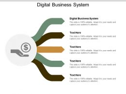 Digital Business System ppt Powerpoint Presentation Gallery Tips Cpb