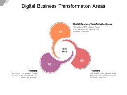 Digital Business Transformation Areas Ppt Powerpoint Presentation Infographics Demonstration Cpb