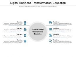 Digital Business Transformation Education Ppt Powerpoint Presentation Summary Background Cpb