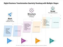 Digital Business Transformation Quarterly Roadmap With Multiple Stages