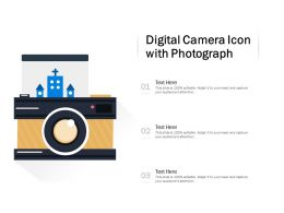 Digital Camera Icon With Photograph
