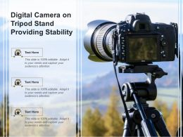 Digital Camera On Tripod Stand Providing Stability