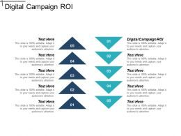 Digital Campaign ROI Ppt Powerpoint Presentation File Shapes Cpb