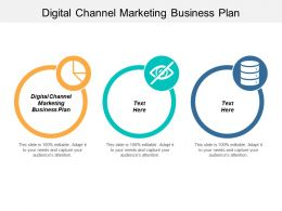Digital Channel Marketing Business Plan Ppt Powerpoint Presentation Gallery Design Inspiration Cpb