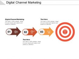 Digital Channel Marketing Ppt Powerpoint Presentation Icon Background Image Cpb
