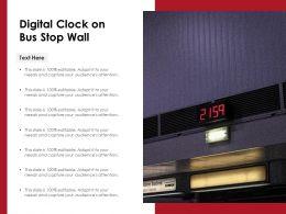 Digital Clock On Bus Stop Wall